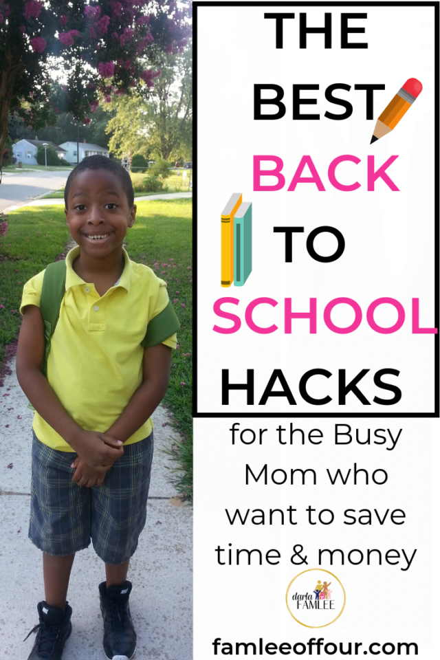 Back to school hacks so help eliminate stress and overwhelm. Click through for a free printable and the best sites to help you save money shopping for school supplies.