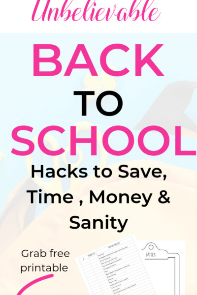 Find back to school tips and deals to save you money and time. Back to school Supplies, Back to school Hacks, Parenting Tips