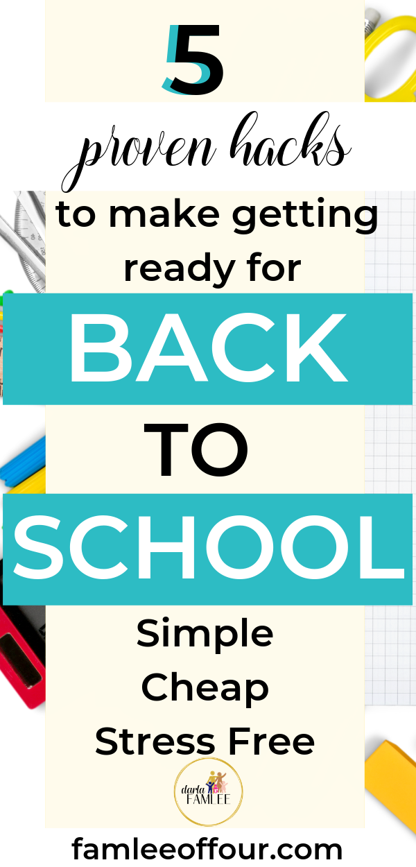 Creating a simple ways to prepare for back to school with 5 easy back to school tips to save you time and money. Back to school on a budget, First day of School,