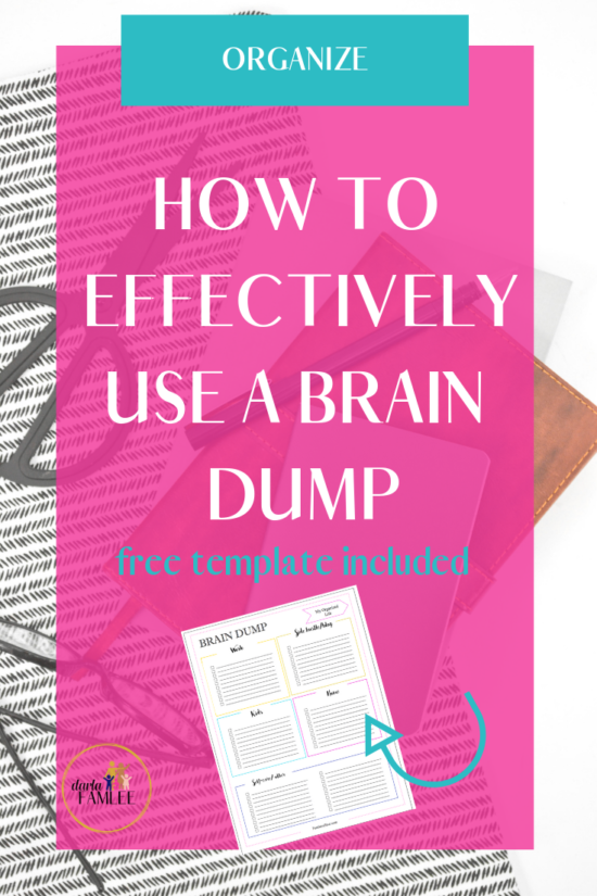 Getting organized and making the first steps seems to be the hardest part. This brain dump method helps mom reduce overwhelm with these best brain dump strategies. A great layout to use in your bullet journal. Each section for moms to jot down their needs. #braindump #momlife #braindumpmethod
