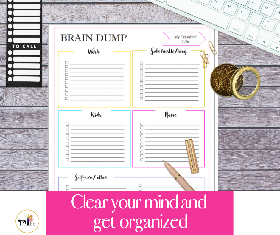 image relating to Brain Dump Printable identified as THE Thoughts DUMP Process FOR THE Doing the job Mother (Cost-free PRINTABLE!) -
