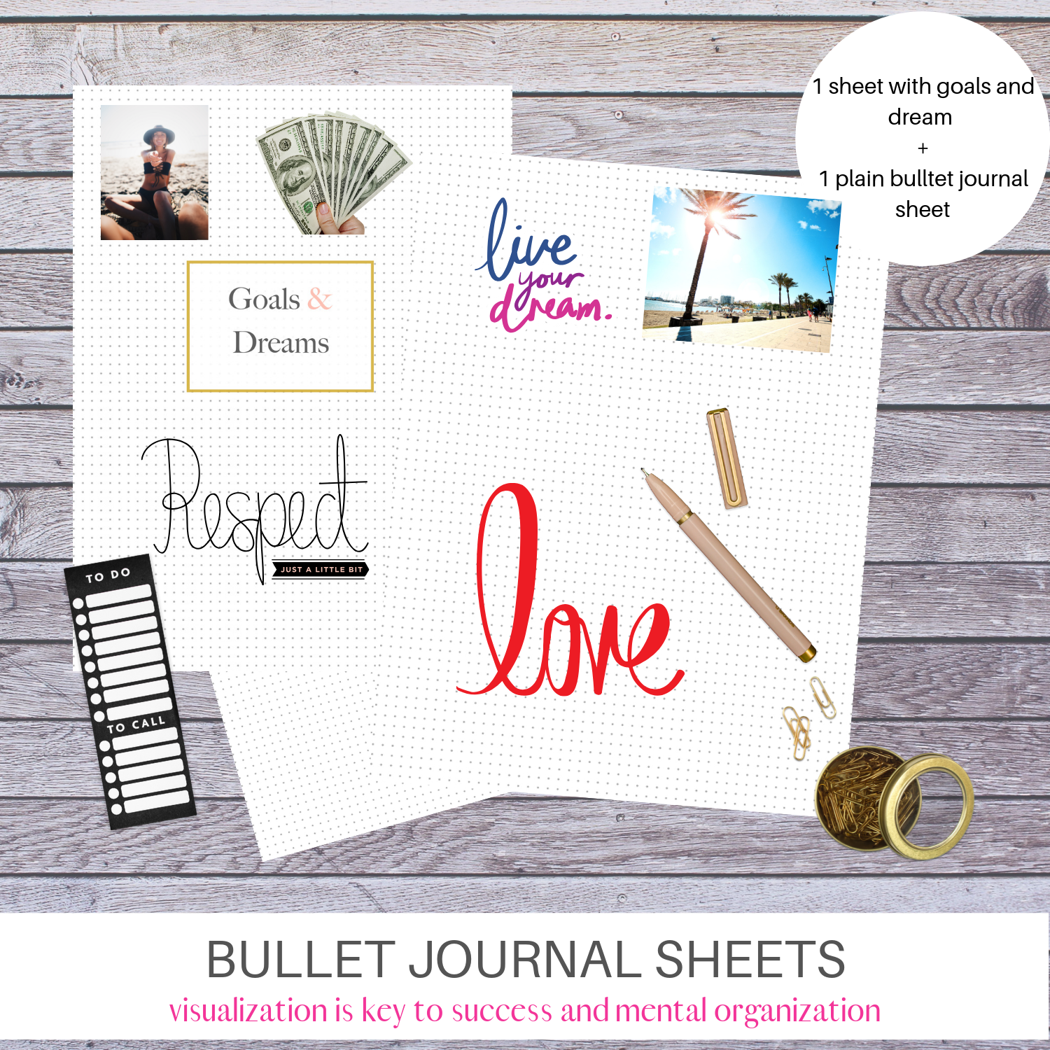 Mom planner with bullet journal pages