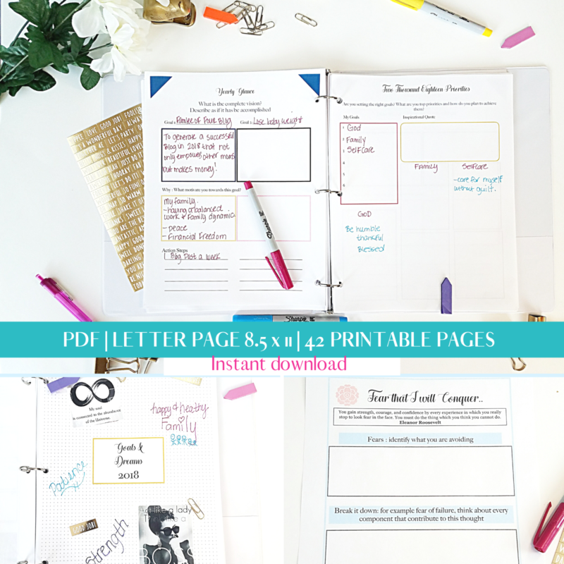 printable pages for your planner. Create the planner you want with daily printable, monthly printable and goal setting printable sheets.