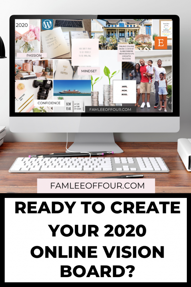 You don't have time to create a physical vision board besides how often are you going to look at it? Instead you can create a free online dream board so you can add it to your screen saver. Click through for step by step directions to create your online vision board and manifest your goals in 2020. #goalin2020 #manifestgoals #visionboard