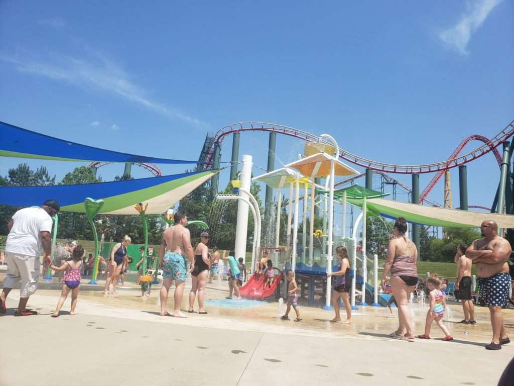 Enjoying summer activities with the kids at Kings Dominion Amusement Park