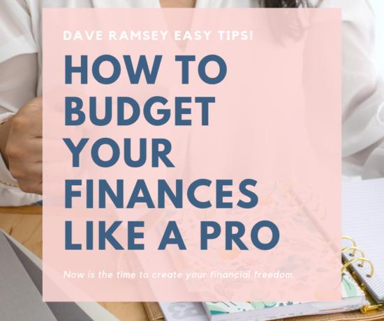 HOw to Budget your finances like a pro