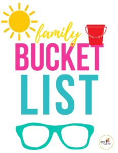 Grab the free summer bucket list planner