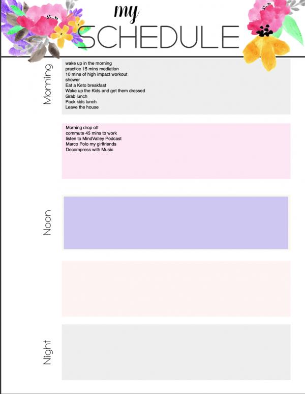 schedule editable