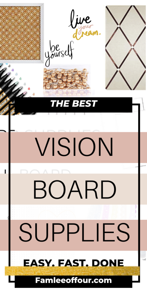 The perfect vision board supplies to make you board as beautiful as you imagined. Don't waste time trying to decide what you need on you board. Instead click through for vision board supplies list.