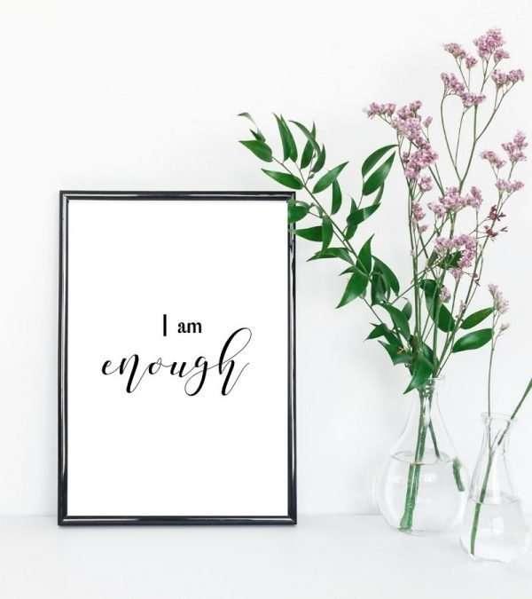 i am enough wall art printable