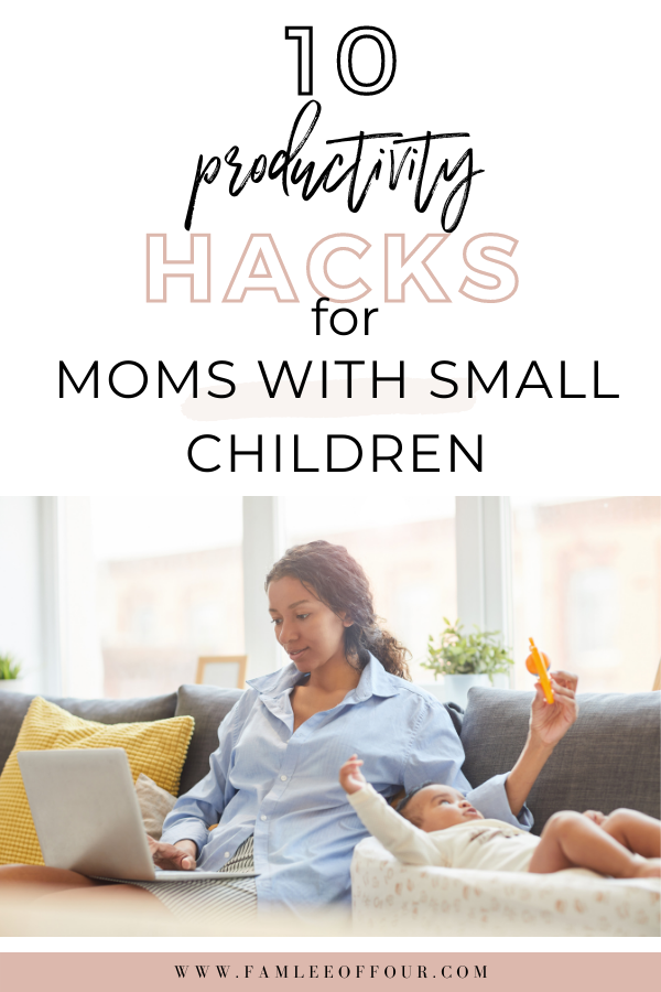 Being productive when you have kids can be challenging so applying a few helpful hacks would make life easier. How to be more productive| get things done| productivity tips| mom tips | mom advice